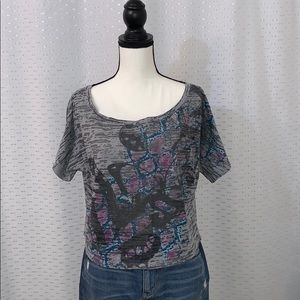 Tops - Printed Cropped T-Shirt